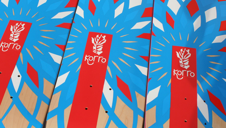 "Boards vierges Korro skateboards, sans signature série ""Sun"""