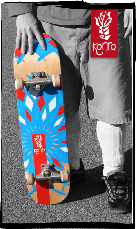 Nouvelle photos des boards Korro Skateboards !