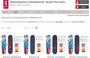 Accueil - nouveau Skateshop Korro Skateboards