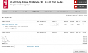 Panier Boards - nouveau Skateshop Korro Skateboards