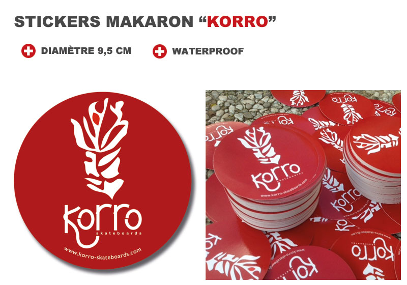 produits stickers makaron korro skateboards