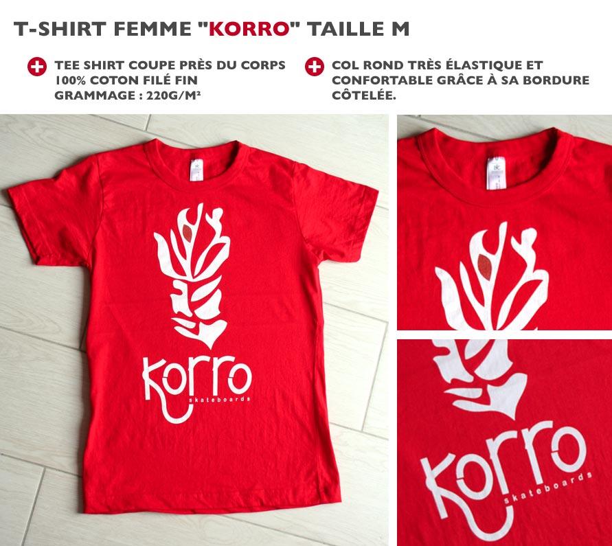 t-shirt femme Korro Skateboards