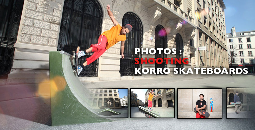 Shooting photos Korro Skateboards