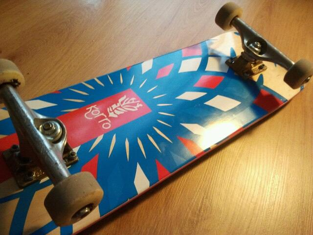 grip personnalise design BB mars 2014 Korro Skateboards