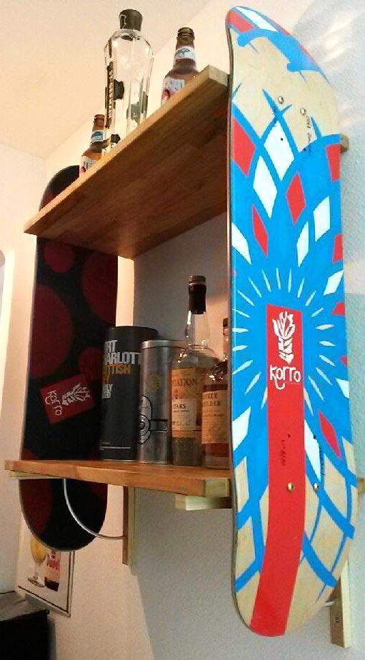 étagère skate Korro skateboards