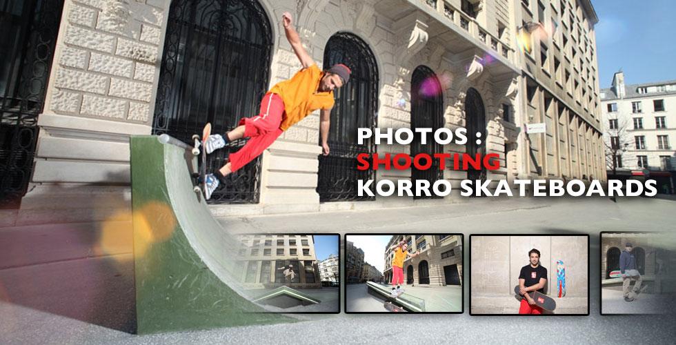 Shooting photos Korro Skateboards