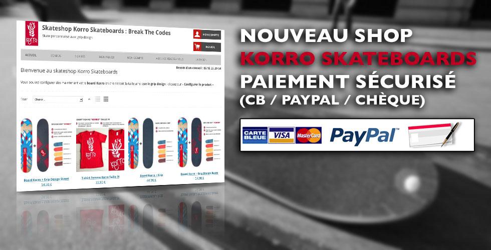 Nouveau skateshop Korro Skateboards